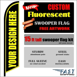 NEW Fluorescent swooper feather banner sign flag kit