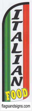 ITALIAN FOOD flag colors swooper feather banner sign flag