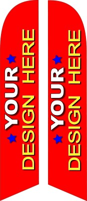 1A YOUR CHOICE DOUBLE SIDED custom swooper feather banner flag