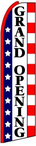 Grand opening stars/stripes swooper banner sign flag