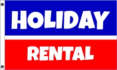 HOLIDAY RENTAL custom flag banner 3x5ft blue red
