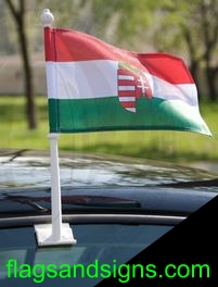 Hungary Hungarian Magyar car window flag window flag, heavy duty