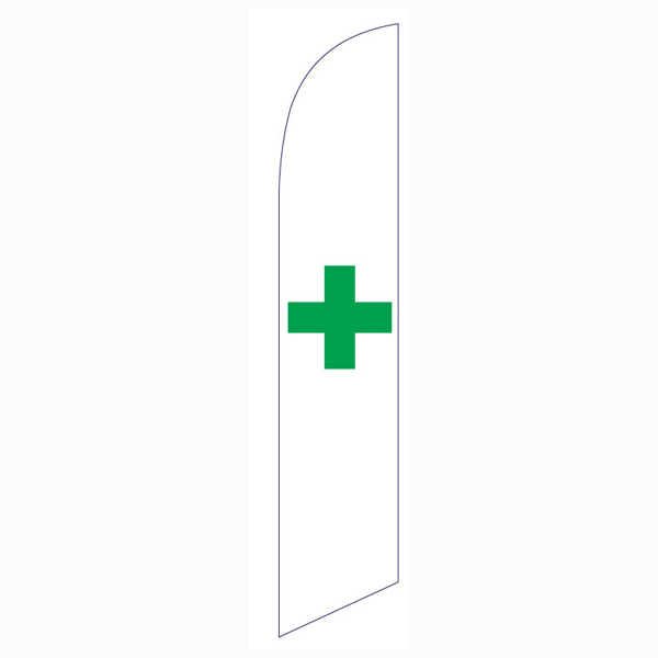 marijuana dispensary swooper feather banner sign flag