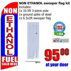 Non Ethanol fuel sold here swooper flag kit