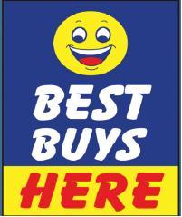 BEST BUY HERE dealer hood sign