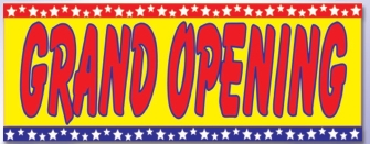 LARGE GRAND OPENING banner sign 5x15ft