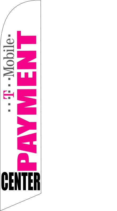 T-mobile payment center custom swooper sign flag