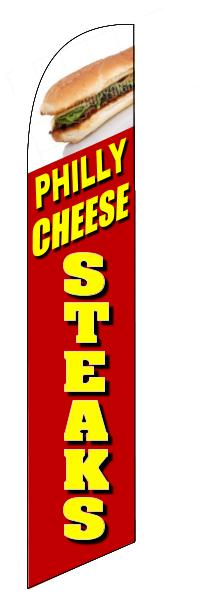 Philly cheese steaks custom restaurant swooper banner sign flag