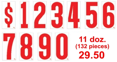 Auto dealer vehicle windshield number price stickers red white