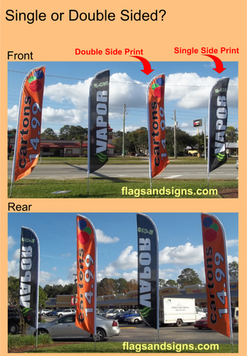 Single or Double Sided Swooper Flags