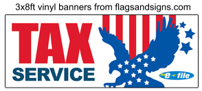 TAX SERVICE e-file BANNER sign