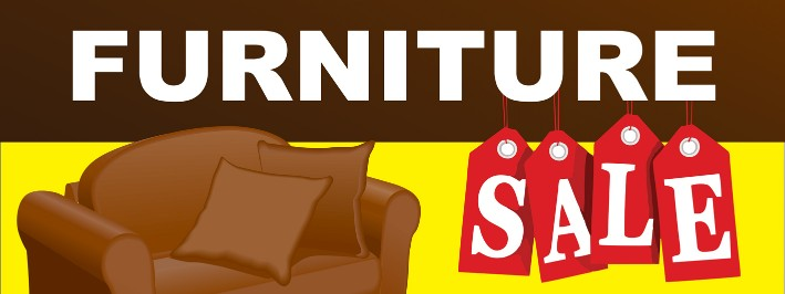furniture sale banner. 38040 Furniture, Furniture Sale Large 3x8ft Color Banner Sign Yellow Brown  Red Furniture Sale