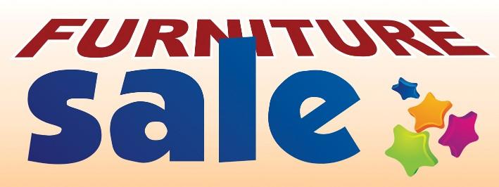 Furniture Sale Large 3x8ft Color Banner Sign White Blue Orange