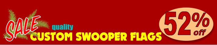SALE custom swooper flags 20% OFF