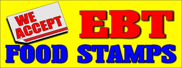We Accept Ebt Food Stamps 3x8ft Banner Sign 81004 Ebt Yellow 3x8