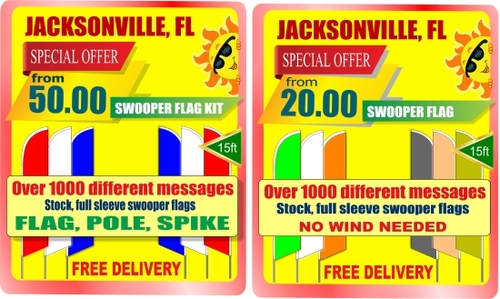 Best price swooper flags in Jacksonville, Florida