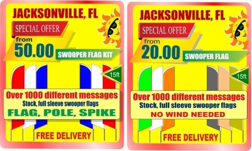Best price swooper flags in Jacksonville, Florida