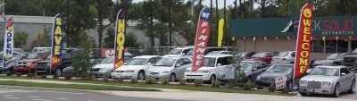 Car Auto Dealer Swooper Feather Flags Signs